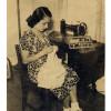 Mama liebte Nähen.