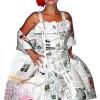 Barockkleid aus Zeitungspaper